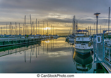 Marina Boats Sunset 5