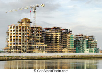 marina construction 01 - construction of apartments along...