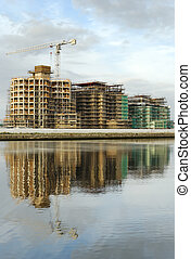 marina construction 02 - construction of apartments along...