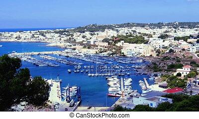 marina docked boats Santa Maria Leuca Apulia Salento region...