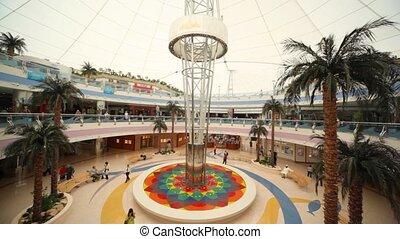 marina, fedett sétány, van, a, második, nagy, üzletközpont,...