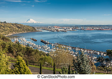 marina, góra, 3, port