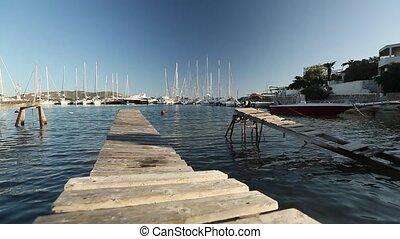 Marina Greek Andros island.
