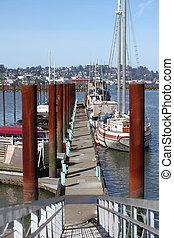 Marina in Astoria Oregon.