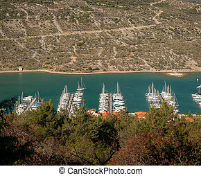Marina in Cres from above
