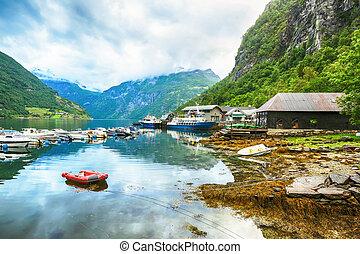 Marina in Geiranger, Norway