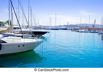 Marina in Palma de Mallorca city from Majorca Balearic...