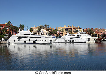 Marina in Sotogrande, Costa del Sol, Andalusia, Spain