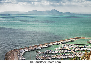 Marina in the Mediterranean