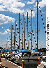 Marina masts in Vrsar