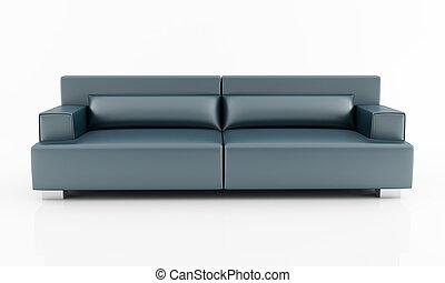 marina, moderno, divano blu