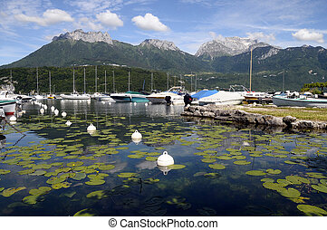 Marina of saint jorioz, annecy lake