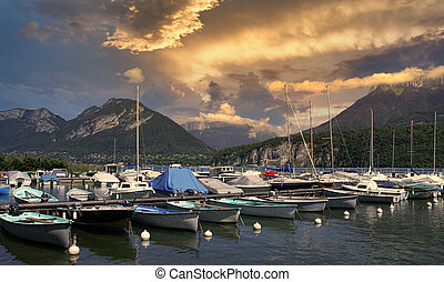 Marina of Saint-Jorioz on Annecy lake