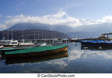 Marina of Saint Jorioz on Annecy lake