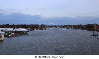 Marina on Columbia River Mount Hood