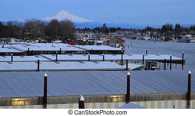 Marina on Columbia River Mount Hood