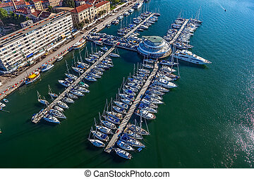 Marina Pula - Marina with boats and sailboats, Adriatic ...