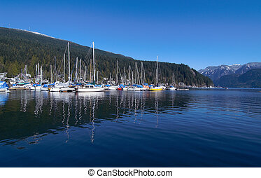 Marina Reflections - Deep Cove marina in North Vancouver