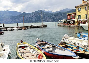 marina - small marina on Garda lake