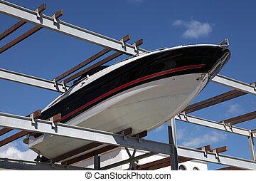 marina, support stockage, bateau