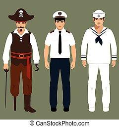 marinaio, capitano, pirata
