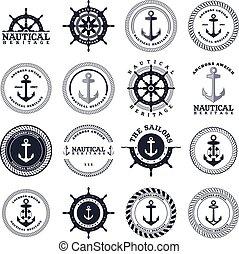marinaio, tema, ancorare
