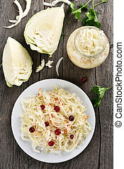 Marinated cabbage (choucroute)