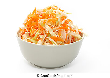 Marinated cabbage. Object over white.
