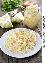 Marinated cabbage