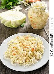 Marinated cabbage (sauerkraut)