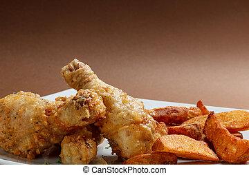 Marinated chicken legs