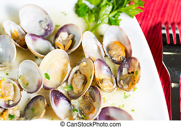 Marinated clams