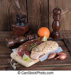 marinated duck breast