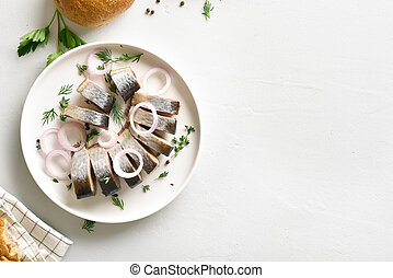 Marinated herring with spic