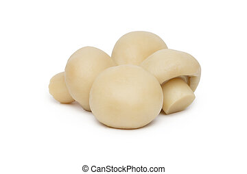 Marinated mushroom isolated on white