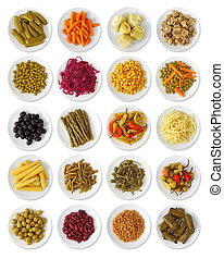 Marinated vegetables collection