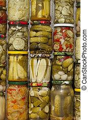 marinated vegetables - vegetables different species...