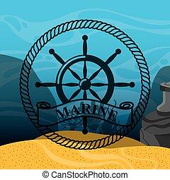 marine and sea life design