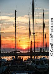 Marine at sunset