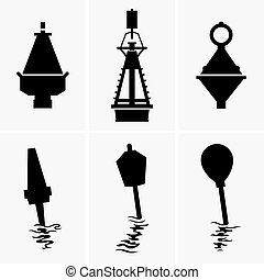 Marine buoys - Set of six Marine buoys