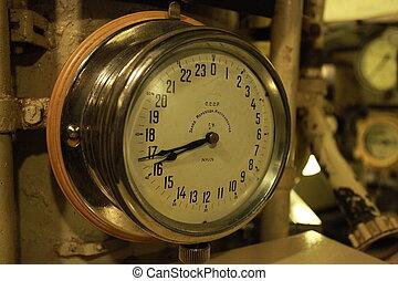 chronometer - Marine chronometer on board of the submarine