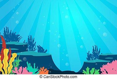 Marine Coral Reef Underwater Sea Ocean Nature Illustration