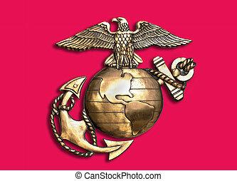 Marine Eagle ,Globe and Anchor. - Marine eagle,globe and...