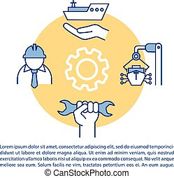 Marine engineer concept icon with text. Water vessel ...