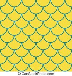 Marine fish scales seamless pattern