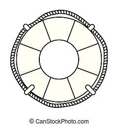 marine float ship isolated icon