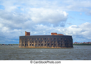 Marine fort on the island