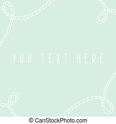 Marine greeting card template.