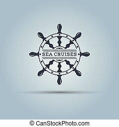 Marine helm wheel label template