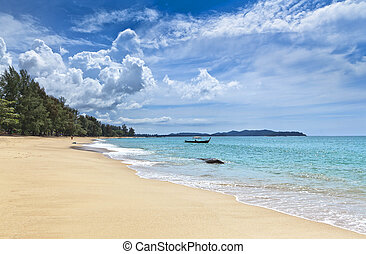 Marine landscape.  Khao Lak Beach. Thailand.